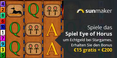 Spiel Eye of Horus um Echtgeld